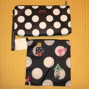 NEW*Sephora wristlet & eco-friendly beauty bag